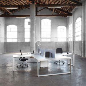bureau pour open space / en bois / en stratifié / contemporain