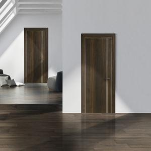 porte d'intérieure / battante / en plaqué bois / plein