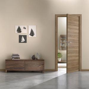 porte d'intérieure / battante / en bois / acoustique