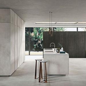 cuisine contemporaine / en bois / en marbre / en quartz