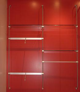 système d'étagères mural / contemporain / en métal / en verre