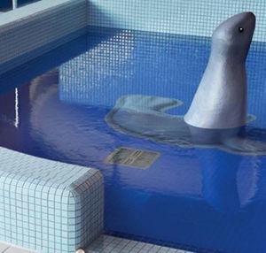 mosaïque de piscine / au sol / murale / en verre
