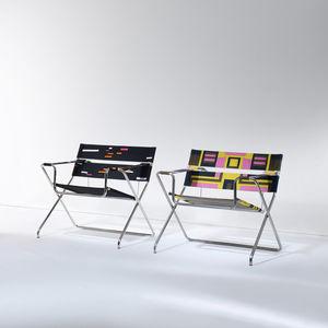 fauteuil design Bauhaus / en tissu / en métal / pliant