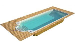 piscine coque / enterrée / en polyester / en fibre de verre