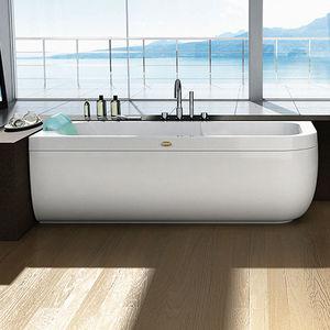 baignoire à poser / ovale / en acrylique / balnéo