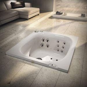 spa encastrable / rectangulaire / 2 places / d'extérieur