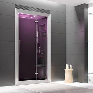 cabine de douche multifonction / d'hydromassage / en verre / rectangulaire