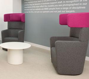 fauteuil visiteur contemporain / en tissu / avec accoudoirs / pivotant