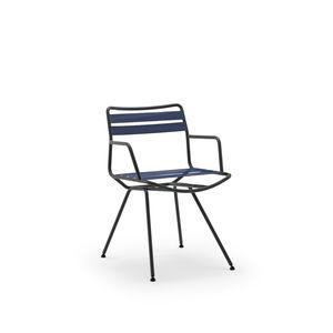 chaise contemporaine / avec accoudoirs / sur mesure / en acier