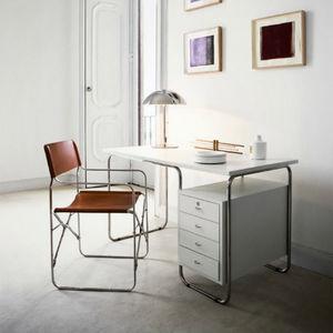 bureau en inox / contemporain / avec rangement intégré