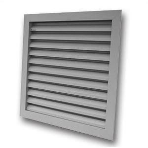 grille de ventilation en aluminium / carrée