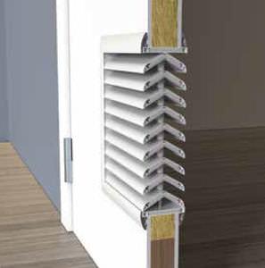 grille de ventilation en polystyrène