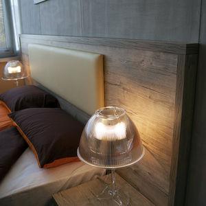 tête de lit pour lit double / contemporaine / en bois / en simili cuir