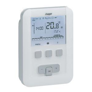 thermostat pour chauffage / programmable / mural / avec affichage numérique