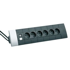 prise de courant / multiple / en saillie / en aluminium