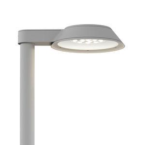 lampadaire urbain / contemporain / en acier inoxydable / en verre
