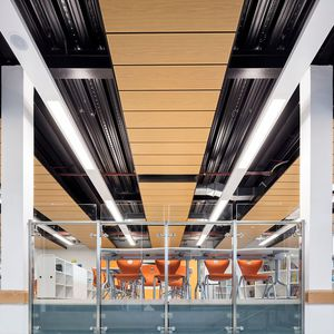 faux-plafond en métal / en panneaux / acoustique / décoratif