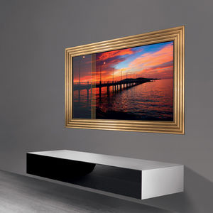 support TV mural contemporain