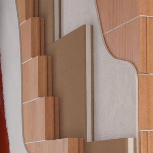 isolant acoustique / en polypropylène / en fibre de bois / pour mur