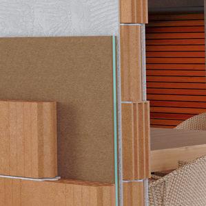 isolant acoustique / en polyester / en fibre de bois / pour mur