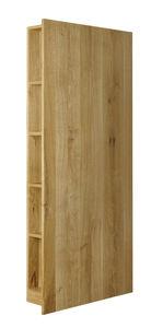 étagère contemporaine / en chêne / en bois massif / en noyer