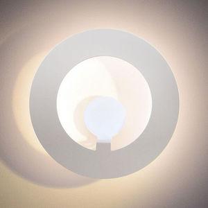 applique murale design original / en acier / en plastique / à LED