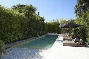 piscine semi-enterrée / en céramique / d'extérieur