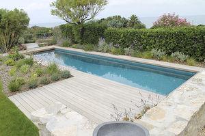 piscine enterrée / en céramique / en mosaïque / d'extérieur