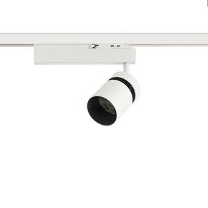 éclairage sur rail à LED / DHI / rond / en fonte d'aluminium