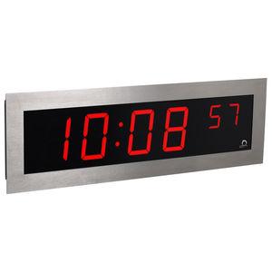 horloges contemporaines / numérique / murales / en acier inoxydable