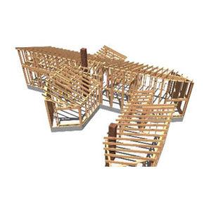 logiciel de dessin / d'analyse structurelle / pour structure en bois / 3D