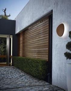 applique murale contemporaine / d'extérieur / en aluminium / en bois