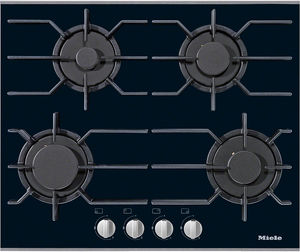 table de cuisson à gaz / avec gril intégré / en fonte / 4 foyers