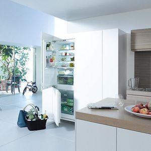 réfrigérateur congélateur avec congélateur en bas / résidentiel / à double porte / blanc