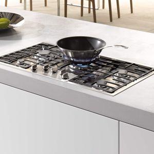 table de cuisson à gaz / avec gril intégré / en fonte / en inox