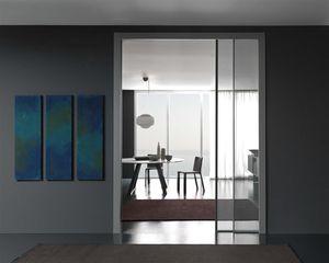 porte d'intérieure / battante / coulissante / en aluminium