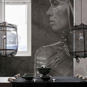 papier peint design original / en textile non-tissé / à motif / aspect tissu