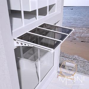 auvent d'entrée / pour fenêtre / en aluminium / en polycarbonate