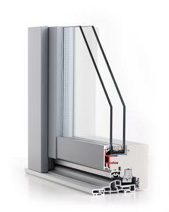 fenêtre basculante / en bois / en aluminium / à double vitrage