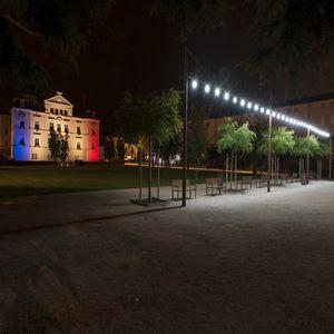 guirlande lumineuse en aluminium / en verre / à LED / pour espaces publics