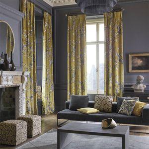 tissu pour rideaux / à motif nature / à motif animalier / en lin