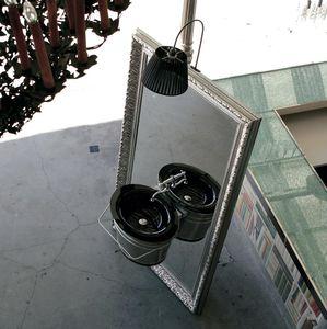 vasque suspendue / ovale / en verre / en cuivre