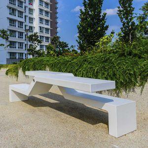 banc public / contemporain / en granite / en marbre