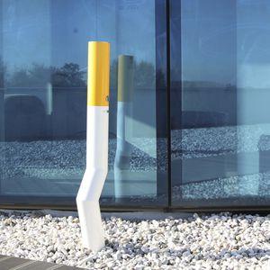 cendrier sur pied / en inox / pour extérieur / pour espace public
