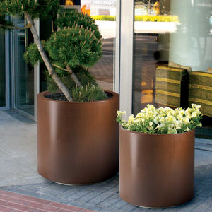 jardinière en métal / ronde / contemporaine / pour espace public