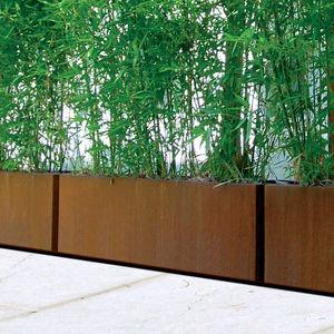 jardinière en métal / rectangulaire / contemporaine / pour espace public