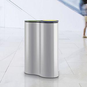 poubelle publique / sur pied / en acier / en aluminium