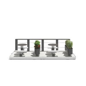 parklet avec jardinière intégrée