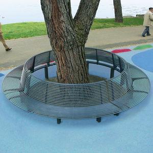 corset d'arbre en acier / avec banc public intégré