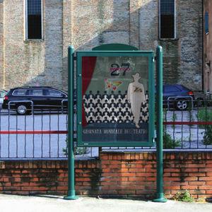 panneau d'affichage d'extérieur / en acier